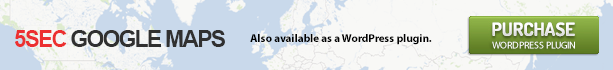 5sec Google Maps PRO WP version